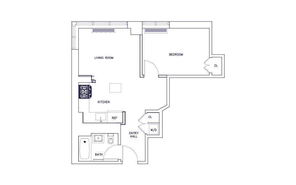 Unit A - Floors 9, 11-23