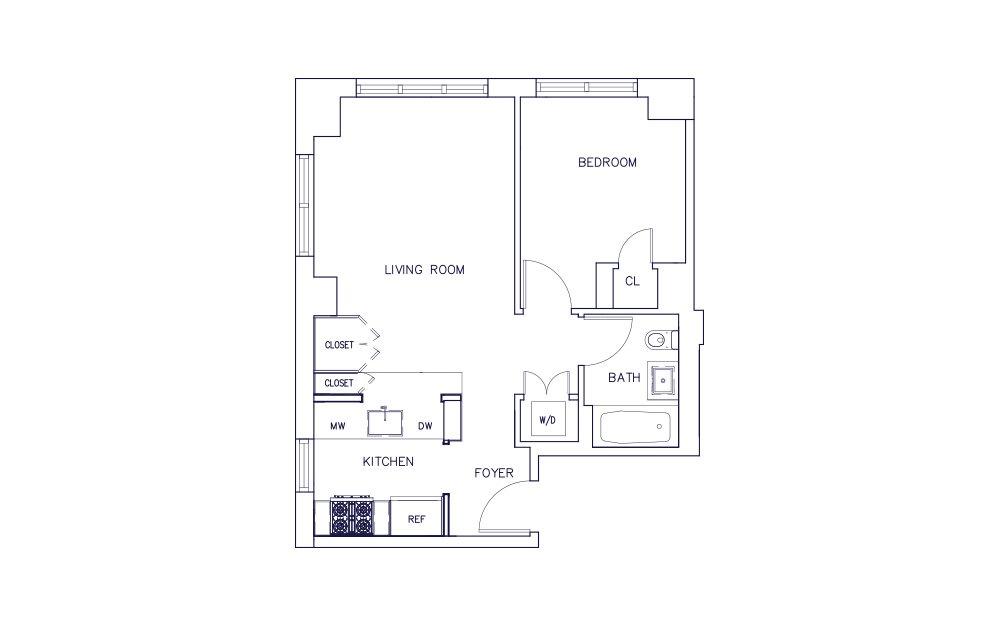 Unit B - Floors 15-17