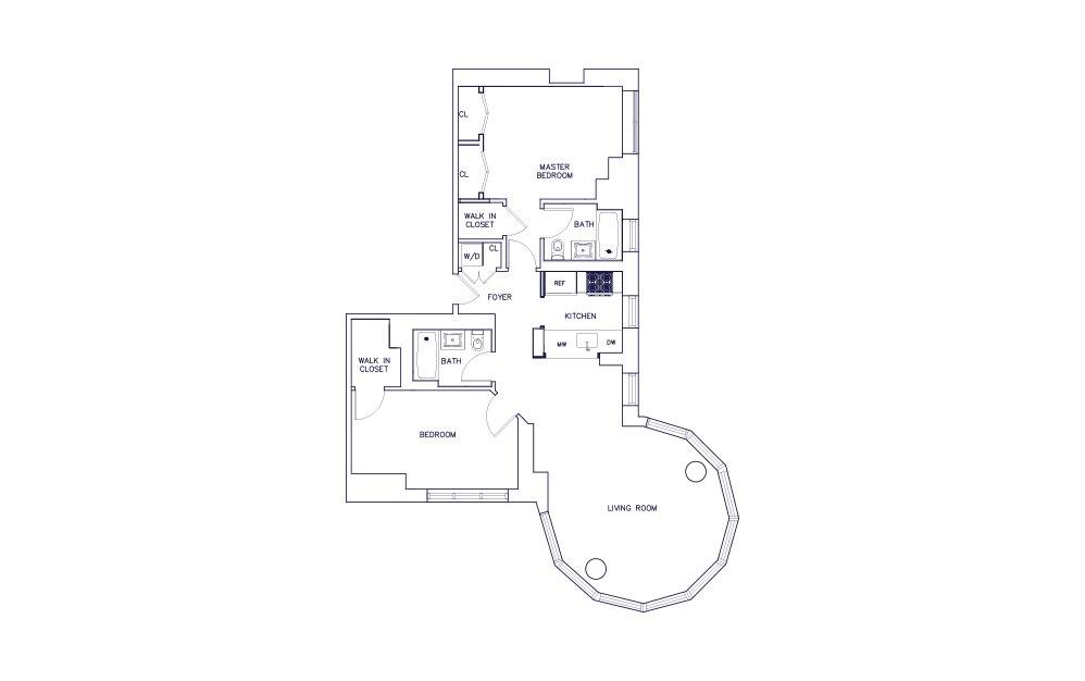 Unit D - Floor 21