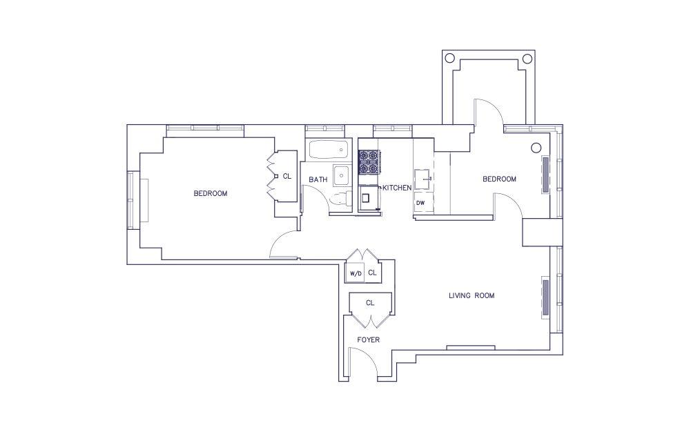 Unit F - Floors 19-23