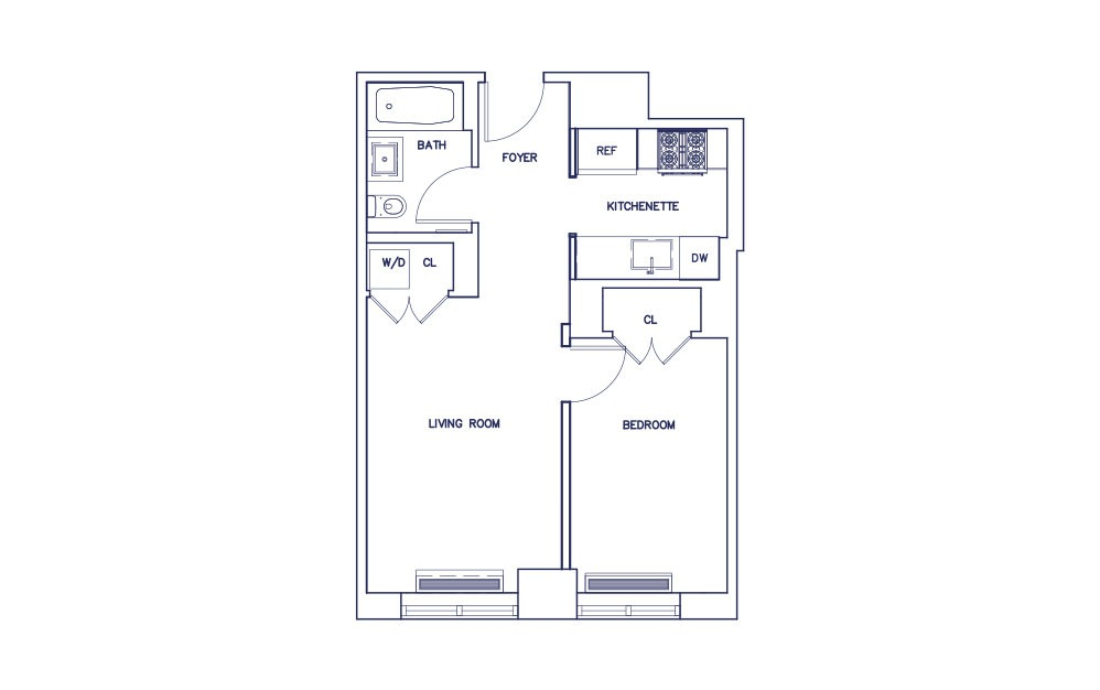 Unit F - Floors 3-17