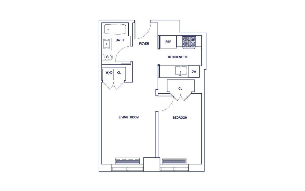 Unit F - Floors 3-17