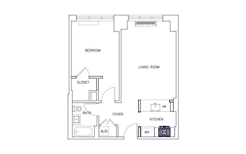 Unit G - Floors 3-12