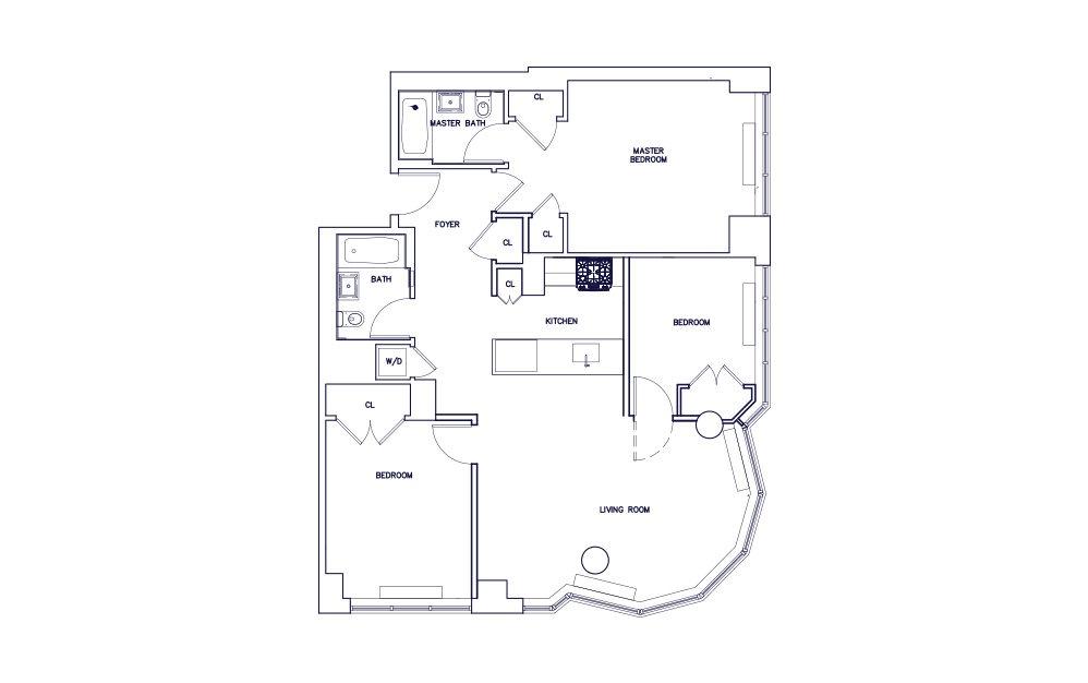 Unit H - Floors 4-12