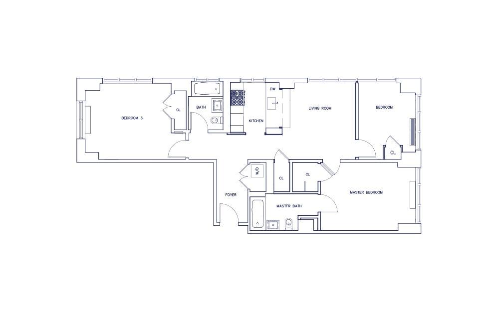 Unit L - Floors 5-17