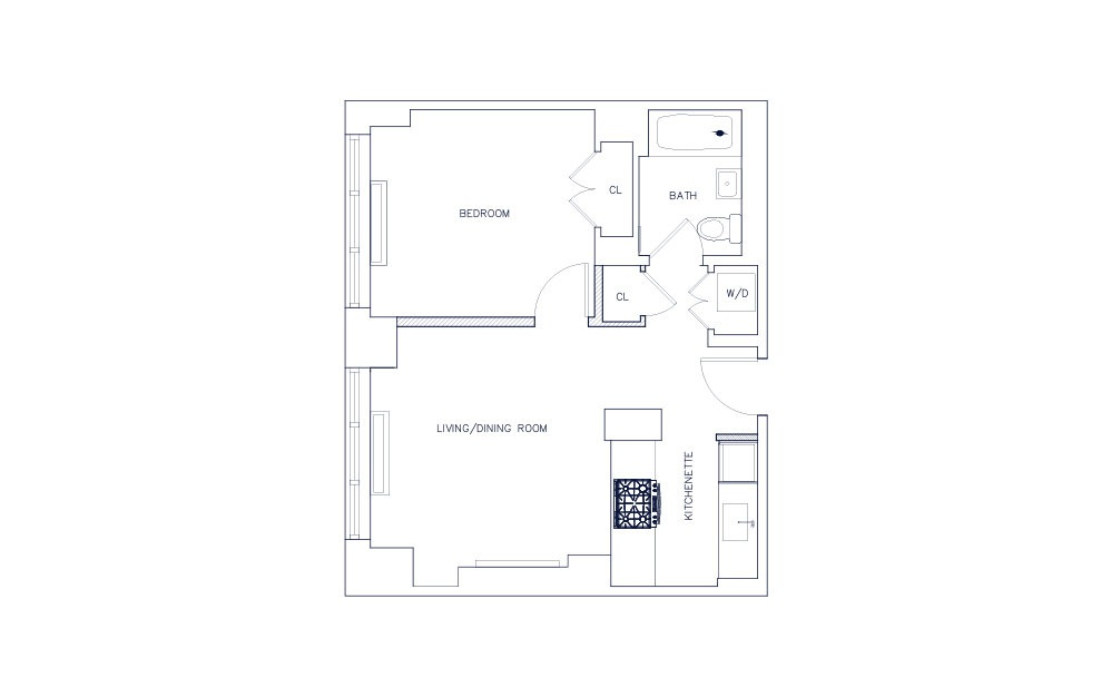 Unit M - Floors 21-23