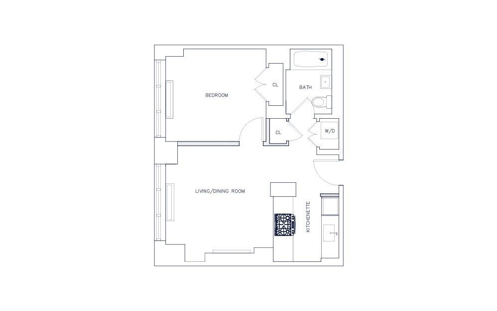 Unit M - Floors 21-23