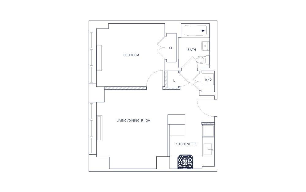 Unit M - Floors 5-7